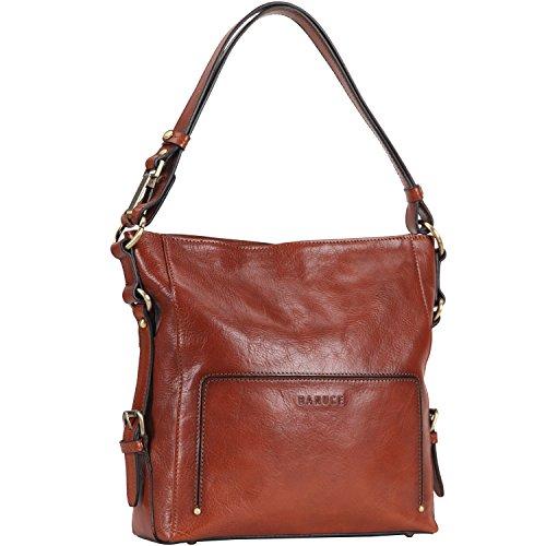 Banuce Vintage Italian Leather 2-way usage Hobo Handbag Shoulder Bag