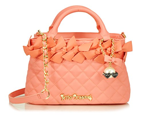 Betsey Johnson Family Ties Mini Satchel Bag, Coral, One Size