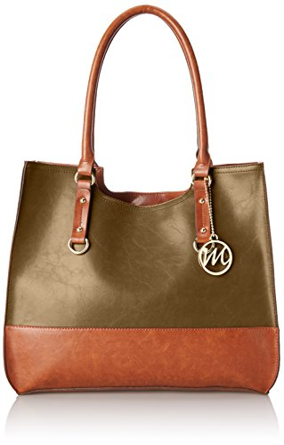 Emilie M. Kimberley Two-Tone Scoop Tote Shoulder Bag