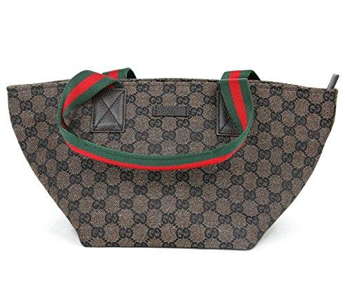 Gucci Women's Brown GG Canvas Original Web Handles Tote 374433 8377