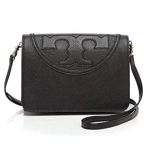 Tory Burch All-t Combo Crossbody Black Bag Leather