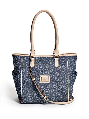 GUESS Women's Tallahassee Denim Logo Tote