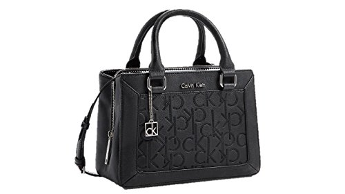Calvin Klein Sadie Studio Small Satchel Carry All Center Zip Black