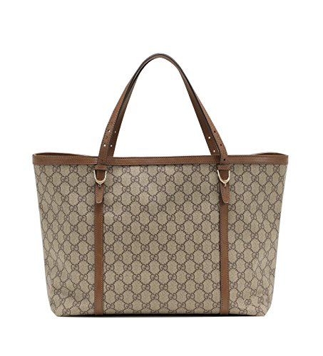 Gucci Nice GG Supreme Canvas Tote Bag, Beige/ebony 309613
