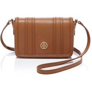 Tory Burch Mini Bag Bloomingdales Bark Brown Leather Handbag