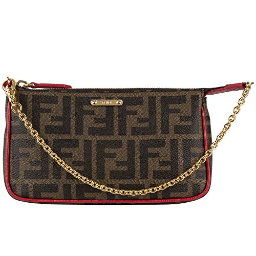 Fendi Small Logo Pouchette 8M0271 GRP F0V82 – Brown/Red