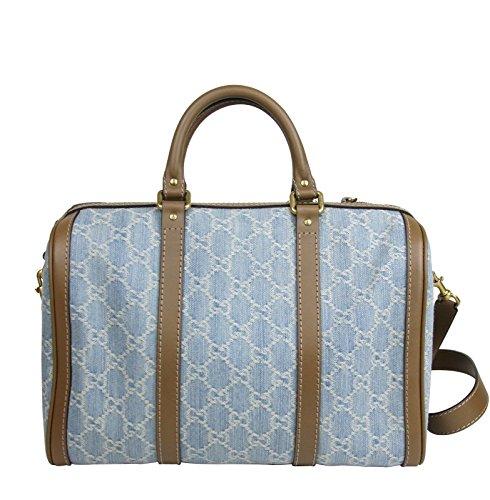 Gucci Blue GG Denim Shoulder Strap Boston Bag 247205 8622