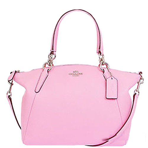 Coach Small Kelsey pink Pebbled Leather Satchel Crossbody