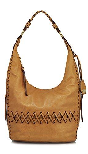 Jessica Simpson Tyson Whipstitch Hobo Shoulder Bag, Latte