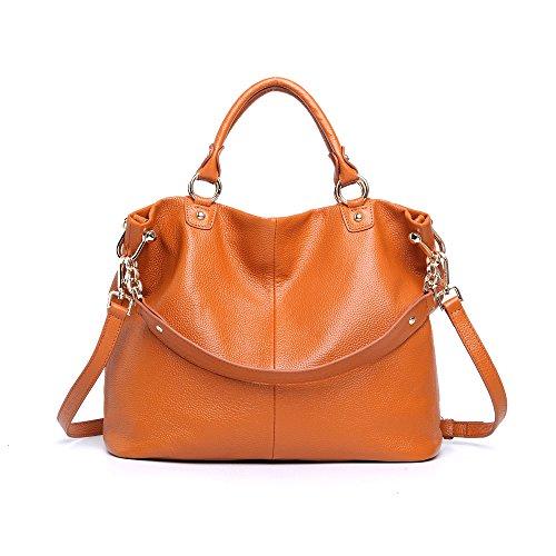 Leyan Women's Casual Soft Leather Top-handle Handbag Cross Body Shoulder Bag Satchel Purse