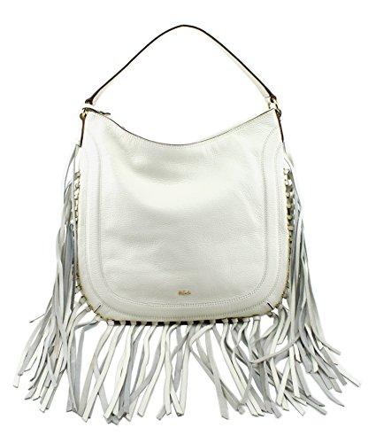 Lauren Ralph Lauren Wheeler Fringed Hobo Handbag, Vanilla