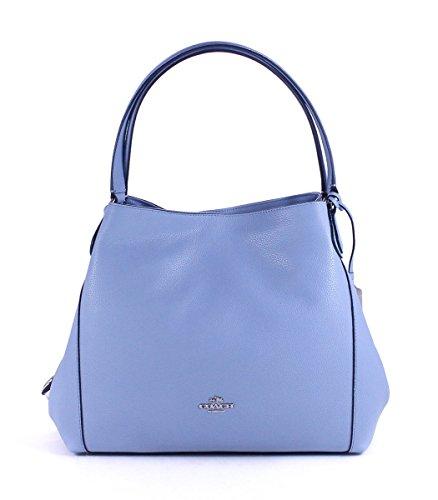 COACH Women's Refined Pebble Leather Edie 31 Shoulder Bag SV/Corn Flower Shoulder Bag