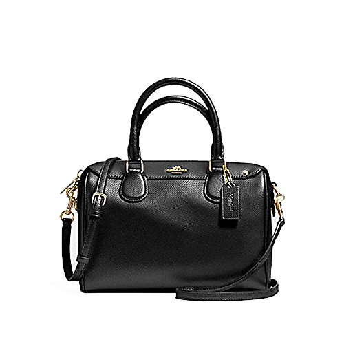 Coach Mini Bennett Satchel In Crossgrain leather F36624 Black