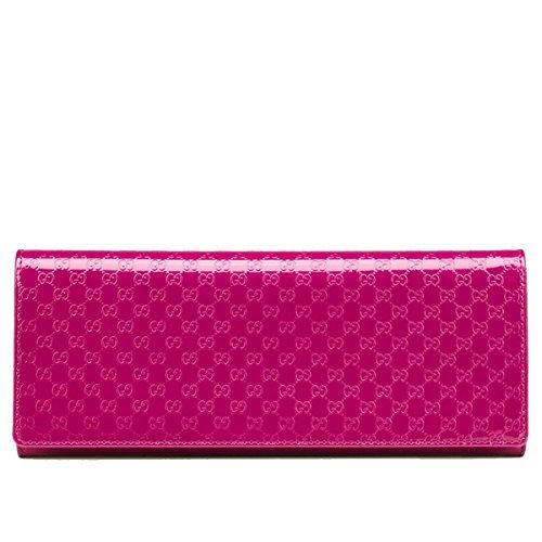 Gucci Broadway Pink Microguccissima Patent Leather Clutch Bag 342630
