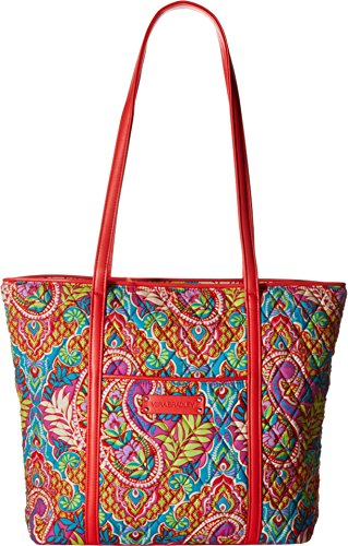Vera Bradley Women's Small Trimmed Vera Paisley in Paradise/Red Tote