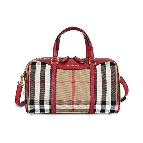 Burberry Medium Alchester Bowling Bag – Russet Red