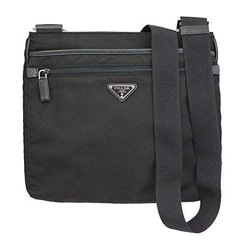 PRADA Black Nylon Cross Body Shoulder Bag VH251