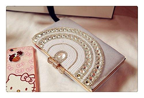 Always Pretty Womens Evening Cocktail Wedding Party Bag Clutch Purse Wallet Handbag Silver Free