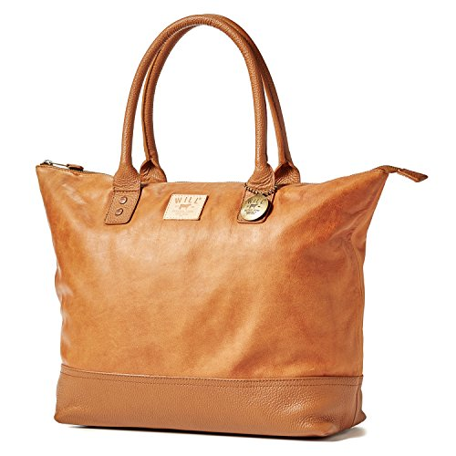 Will Leather Goods The Totes Bag Collection All Leather Getaway Tote in TAN