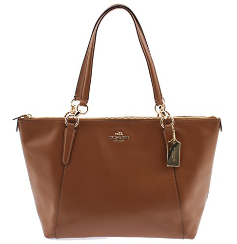 Coach Armor Leather Ava Tote – Saddle