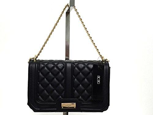 d56b051581 BCBG Paris Cardinal Quilted Chain Shoulder Bag Black B-0114
