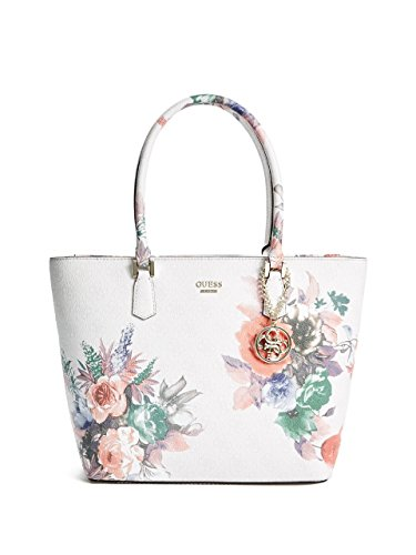 GUESS Linea Floral-Print Logo Tote