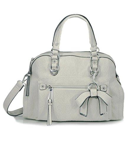 Jessica Simpson Tatiana Satchel Shoulder Bag, Cloud Grey