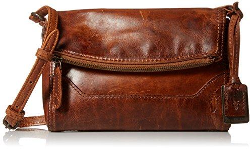 FRYE Melissa Foldover Cross Body Bag, Cognac, One Size