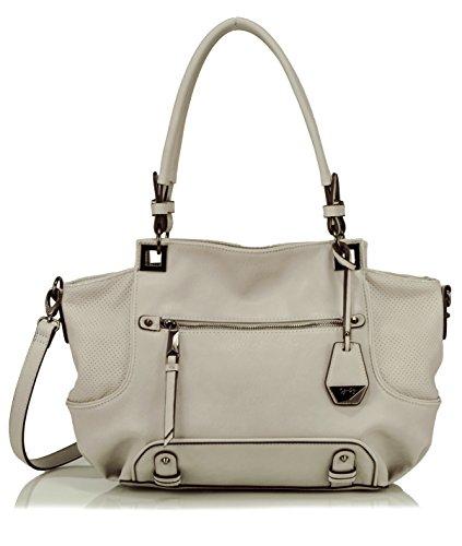 Jessica Simpson Lexie Satchel Shoulder Bag, Storm Grey