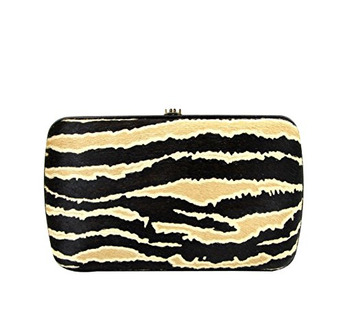 Gucci Women's Zebra Print Pony Hair Evening Bag Broadway Clutch 283068 8737