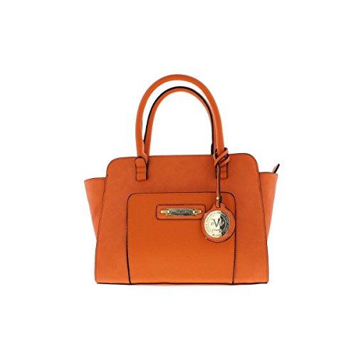 Versace 1969 Womens Concordia Faux Leather Open Slip Satchel Handbag