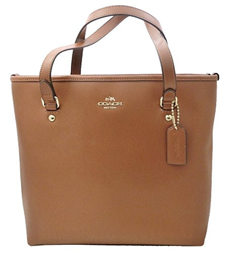 Coach Crossgrain Zip Top Tote – Saddle
