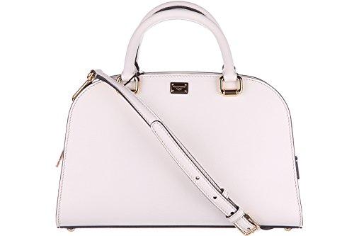 Dolce&Gabbana women's leather handbag shopping bag purse isabella white