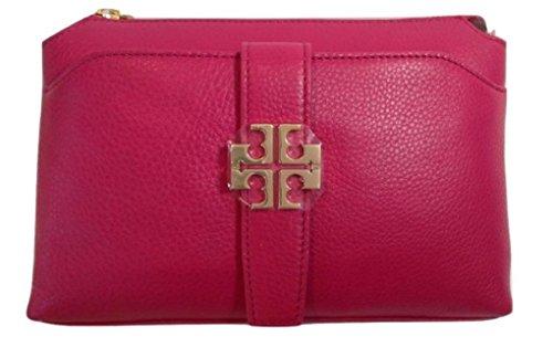 Tory Burch Meyer Crossbody Carnation Red Leather Handbag