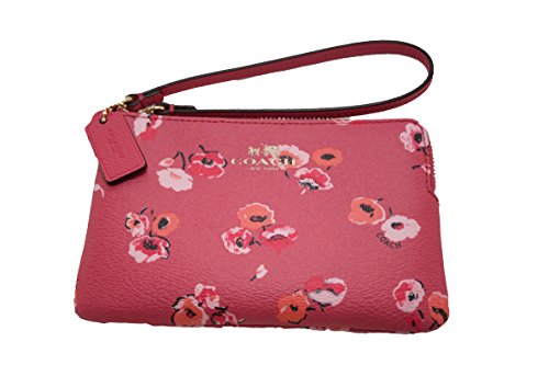 Coach Wildflower Corner Zip Wristlet F65188 DAHLIA MULTI-COLOR