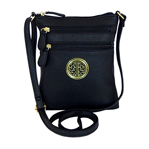 Faux Leather Crossbody Bag with Long Strap