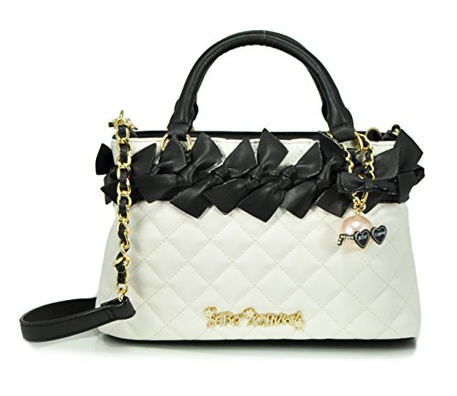 Betsey Johnson Family Ties Mini Satchel Bag, Black/Cream, One Size