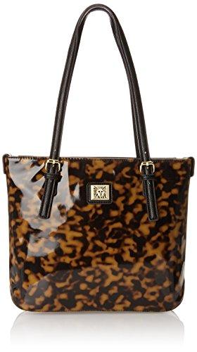 Anne Klein Perfect Tote Small Shopper, Brown Multi/Black, One Size