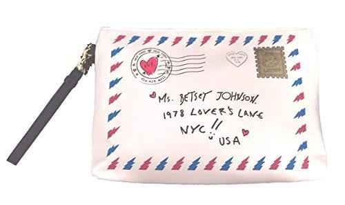 Betsey Johnson Wristlet Handbag/Lg Pouch Bone