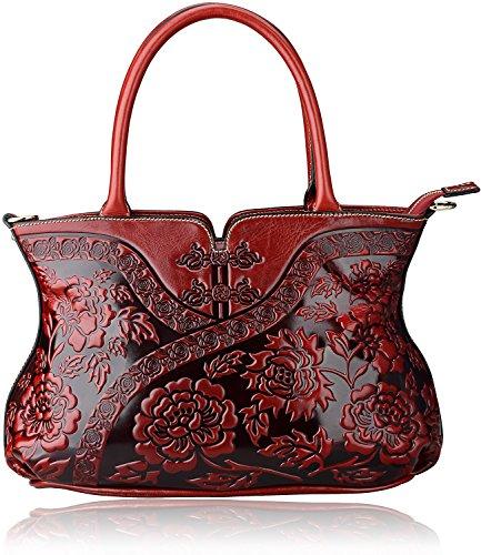 Pijushi Designer Cheongsam Flower Style Lady Tote Handle Handbag Womens Shoulder Bag for All Occasion 22332