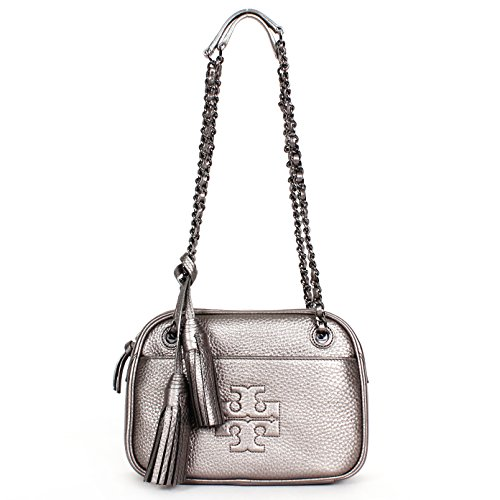 Tory Burch Thea Chain Crossbody Bag Gunmetal