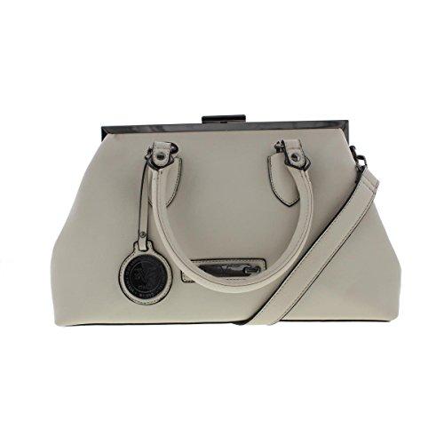 Versace 1969 Womens Savannah Faux Leather Frame Satchel Handbag
