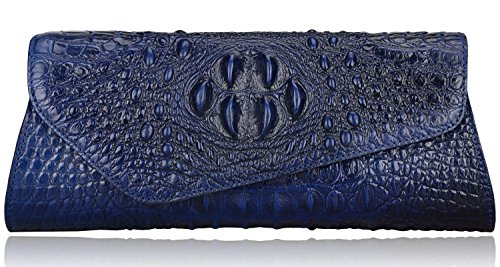 Pijushi Designer Embossed Crocodile Evening Cluches Handbags 5001