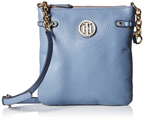 Tommy Hilfiger Sadie Leather Cross Body Bag, French Blue, One Size