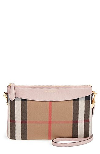 Burberry Pink Peyton House Check Crossbody Bag Pale Orchid Cocoa Bag