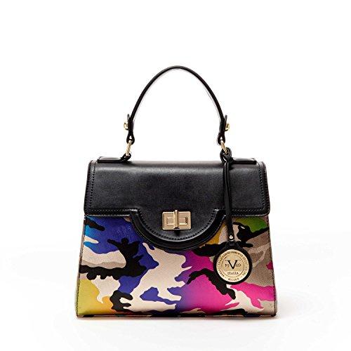 V1969 Italia Womens Designer Henley Satchel Handbag by VERSACE19.69 ABBIGLIAMENTO SPORTIVO SRL (Camo)