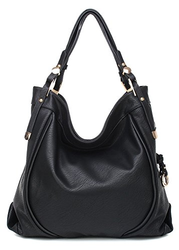 166013 MyLux® Large Women/Girl Fashion Shoulder Bag (black)