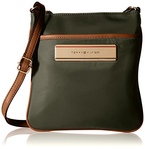 Tommy Hilfiger Harper Nylon Convertible Cross Body Bag, Olive, One Size