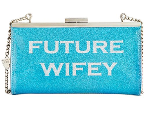 Betsey Johnson Wifey/Future Wifey Clutch Blue Multi Clutch Handbags