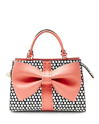Betsey Johnson BJ58000H Coral Curtsy Bow Satchel